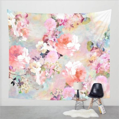 Colourful Flowers Tapestry