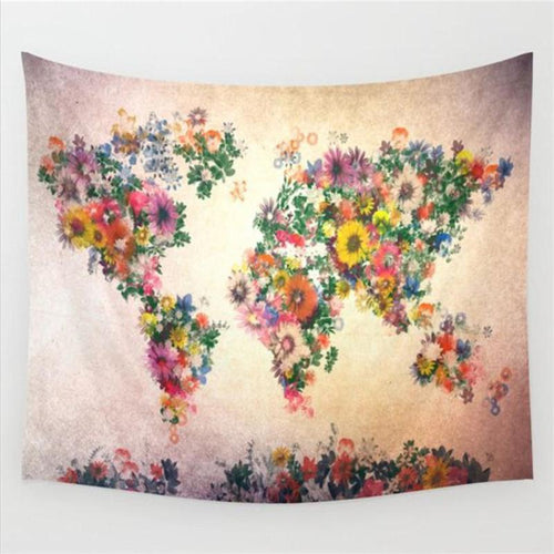 Flower Map Tapestry