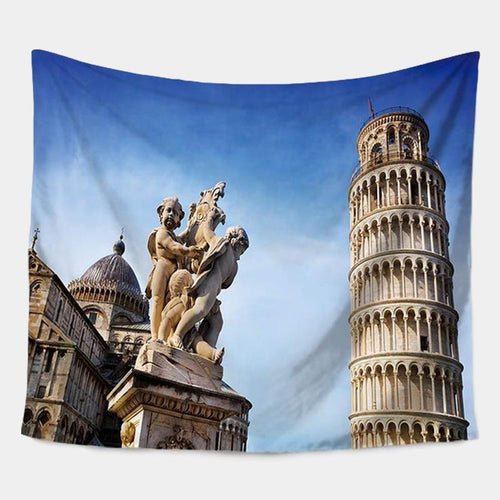 Leaning Tower of Pissa Scenery Tapestry