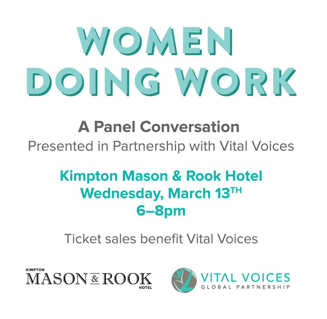 Women Doing Work: A Panel Conversation in Partnership with Vital Voices