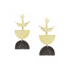 Selene Jacket and Horn Earrings - Kicheko Goods