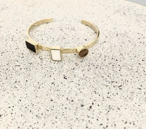 Framework Brass and Upcycled Horn Adjustable Cuff