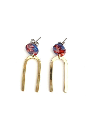 Eugenie Brass and Acetate Earrings