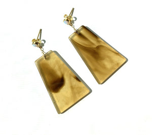 Opal Post Polygon Acrylic Earrings - Kicheko Goods