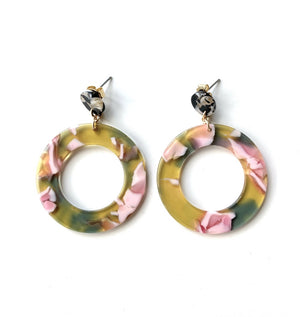 Florienne Floral Acetate Earrings