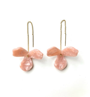 Cherry Blossom Threaders - Kicheko Goods, Pink Gold-Filled Flower Threaders