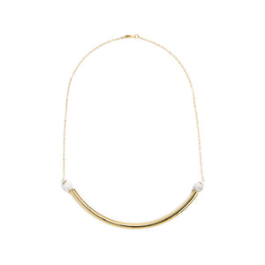 Beaded Brass Arc - Kicheko Goods, Howlite