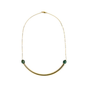 Beaded Brass Arc - Kicheko Goods, Jade
