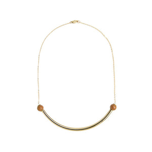 Beaded Brass Arc - Kicheko Goods, Wood