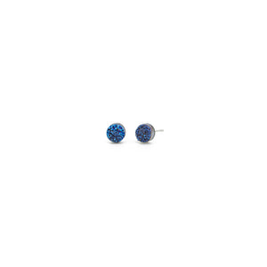 Midnight Blue Mini Druzy Earrings - Kicheko Goods