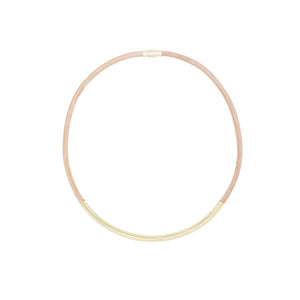 Elastic Heart - Kicheko Goods, Nude Leather and Gold-plate Brass