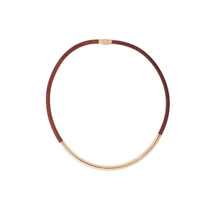 Elastic Heart - Kicheko Goods, Saddle Brown Leather and Gold-plate Brass