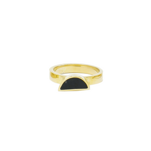 Elizabeta Half Moon Ring