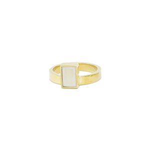 Pillar Ring, Elizabeta Brass Ring