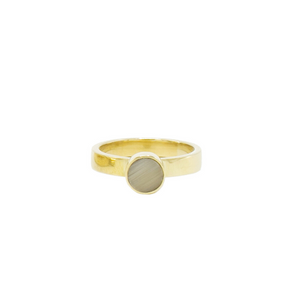 Round Brass Ring, Elizabeta Stack Ring