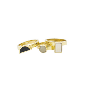 Elizabeta Brass Stack Rings