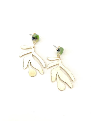 Verdant Brass Earrings - Kicheko Goods