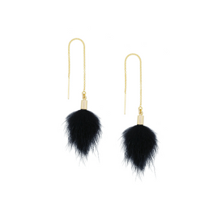 Pom Threader Earrings - Kicheko Goods
