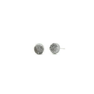 Silver Druzy Earrings - Kicheko Goods