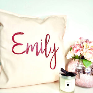XL Name Personalised Glitter Cushion