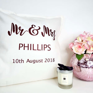 Loving couple Personalised Glitter Cushion