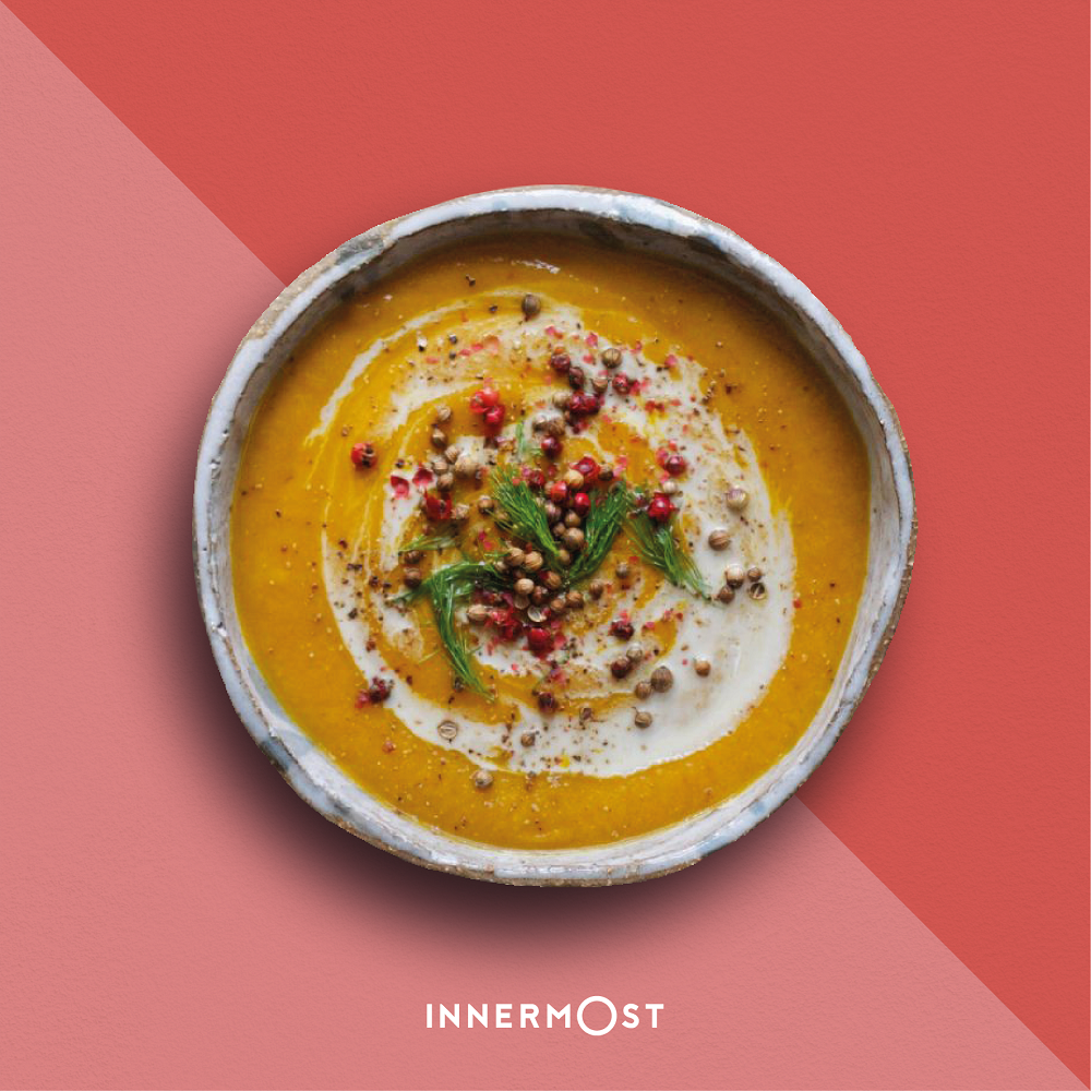 Carrot, Red Lentil + Cardamom Soup
