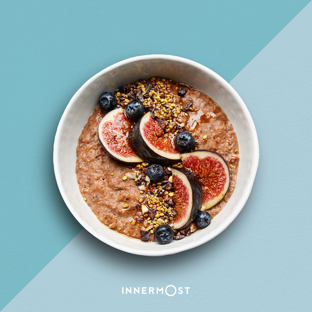 Creamy Chocolate Porridge + Figs