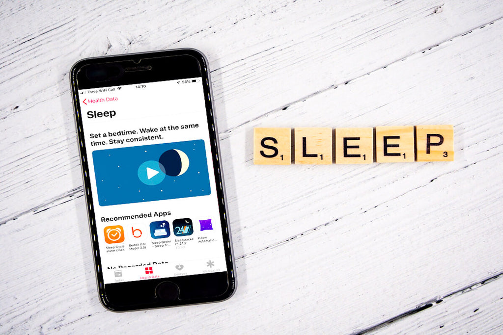 iPhone with sleep app