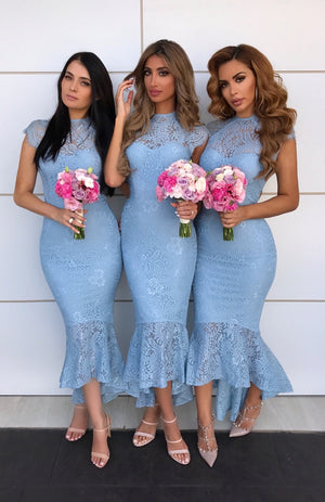 Francis Dress - Blue - Miss Holly Formal & Prom Dresses