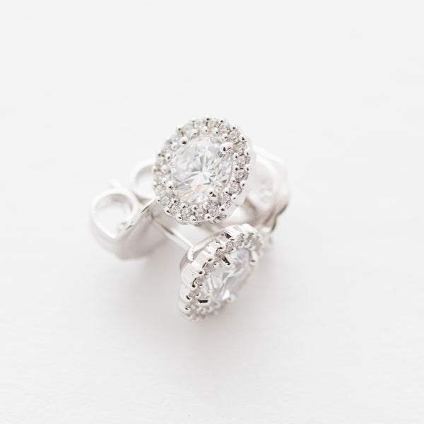 Princess Pave Stud Earrings