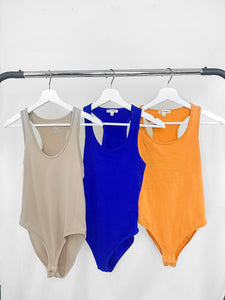 Your Favorite Bodysuit - Colors Denim Blue and Ash Mustard