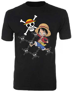 One Piece's Luffy and Jolly Roger T-shirt  The One Piece's Luffy and Jolly Roger T-shirt is officially licensed, 100% cotton and ready for action. www.Mean-Tees.com