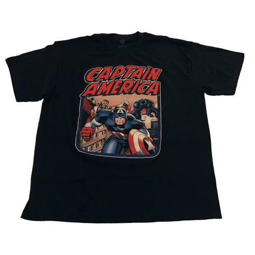 Captain America and The Falcon with Black Panther T-shirt - Mean-Tees.com