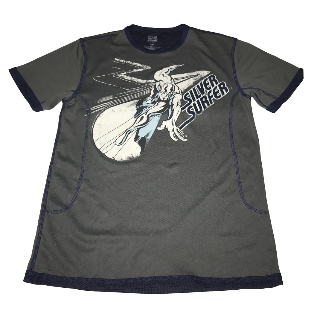 Silver Surfer Riding Mesh T-shirt - Mean-Tees.com