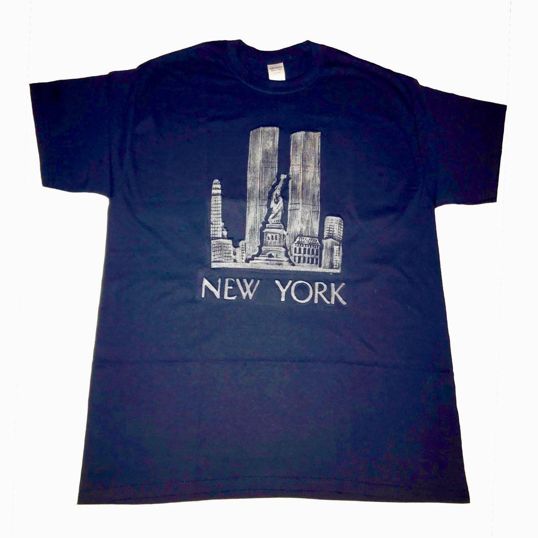 NY NY Skyline T-shirt - Mean-Tees.com