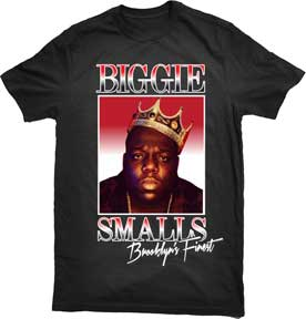 The King Biggie Smalls T-shirt from www.Mean-Tees.com