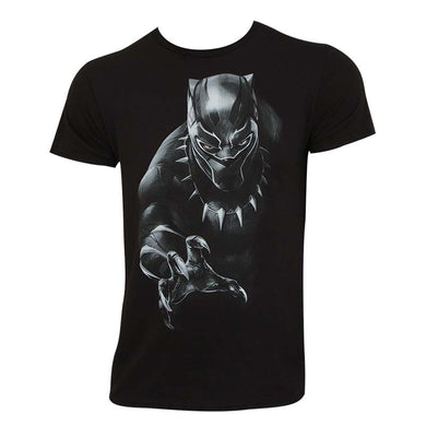 Black Panther T'Challa's Reach 100% cotton, unisex black T-shirt from www.Mean-Tees.com