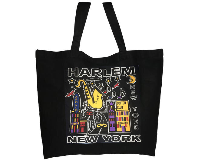 Harlem Jazz Jumbo Tote Bag - Mean-Tees.com