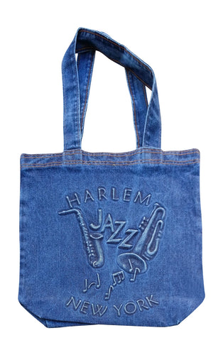 Harlem New York Jazz Embossed Tote Bag - Mean-Tees.com