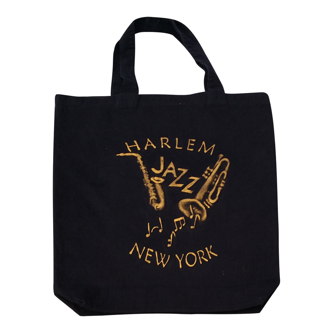 Harlem New York Jazz Embossed Jumbo Tote Bag - Mean-Tees.com