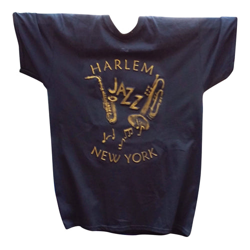 Harlem Jazz Embossed T-shirt - Mean-Tees.com