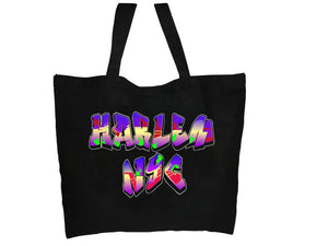 Harlem NYC Graffiti Tote Bag - Mean-Tees.com