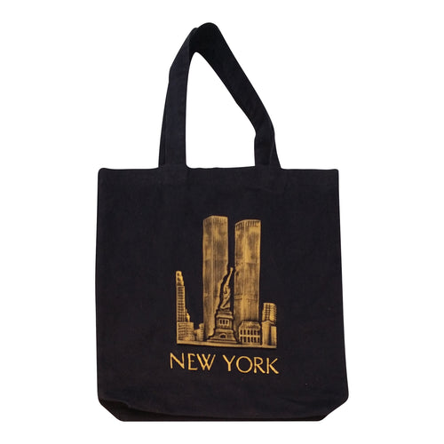 New York Skyline Embossed Jumbo Tote Bag - Mean-Tees.com