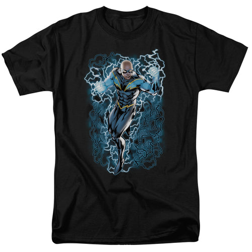 Black Lightning Bolts JLA T-Shirt - Mean-Tees.com