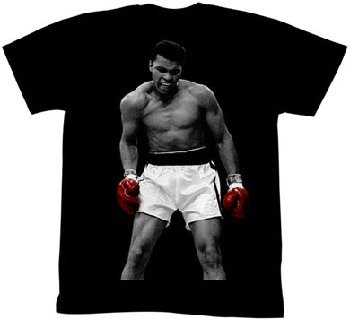 Muhammad Ali I Am The Greatest T-shirt 100% black cotton from www.Mean-Tees.com
