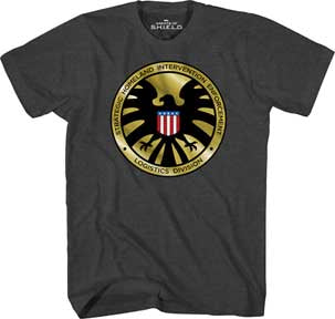 S.H.I.E.L.D. Golden Crest T-shirt - Mean-Tees.com