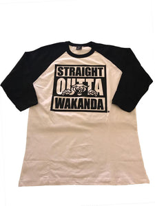 Straight Outta Wakanda Batter Up Baseball T - Mean-Tees.com