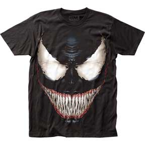 Venom Sinister Smile t-shirt from www.Mean-Tees.com