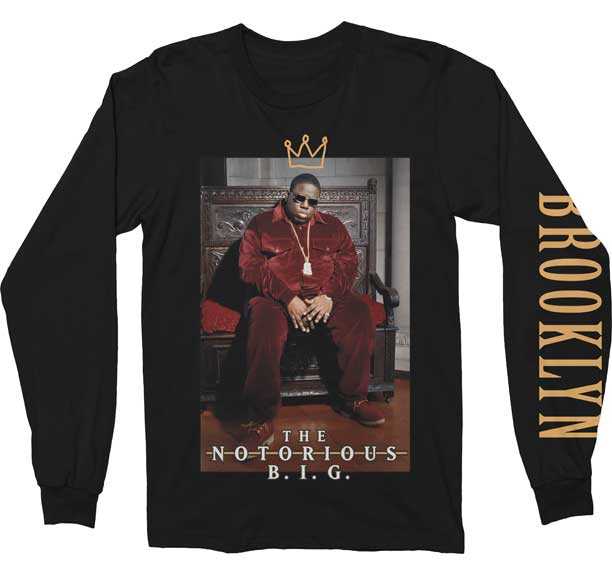 The Notorious B.I.G Crown T-shirt - Mean-Tees.com
