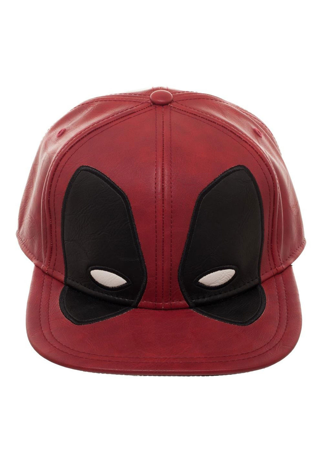 Deadpool Big Face Distressed Deluxe Snapback Hat - Mean-Tees.com